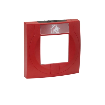 Resim MCP Housing Large With Glass Pane, Red, Similar to RAL 3020