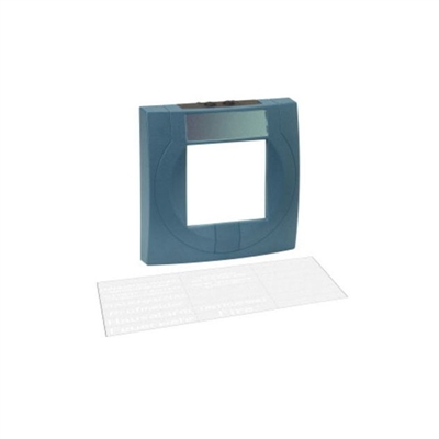 Resim MCP Housing Large with Glass Pane, Blue, Similar to RAL 5015